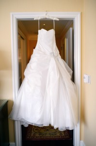 wedding dress empty